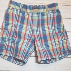 Janie and Jack Boys Size 12-18M Plaid Shorts
